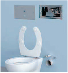 Vaidim 9 - Wall-recessed flushing cistern with floor-washing system